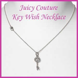 🐣 Juicy Couture Key Wish Silver Pendant Necklace